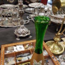 Antigüedades: VIOLETERO CRISTAL VENECIANO. Lote 96448184
