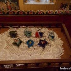 Antigüedades: LOTE DE PCES Y ESTRELLAS DE MAR EN CRISTAL DE MURANO , ES UN RESTO DE TIENDA. Lote 96450127
