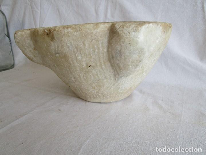 Antigüedades: antiguo mortero piedra 24 cm - Foto 3 - 96452547