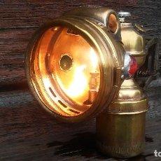 Antigüedades: FAROL, LAMPARA A CARBURO PARA BICI Y MOTO. Lote 96460219
