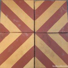 Antigüedades: 4 ANTIGUA BALDOSA HIDRAULICA CATALANA DE LA BARCELONA ANTIGUA. Lote 96479671