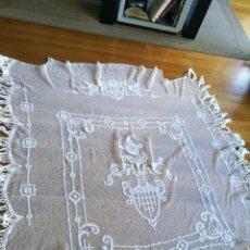 Antigüedades: COLCHA DE ENCAJE DE RED. Lote 96489800