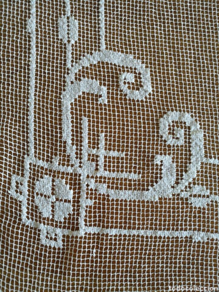 Antigüedades: Colcha de encaje de red - Foto 4 - 96489800
