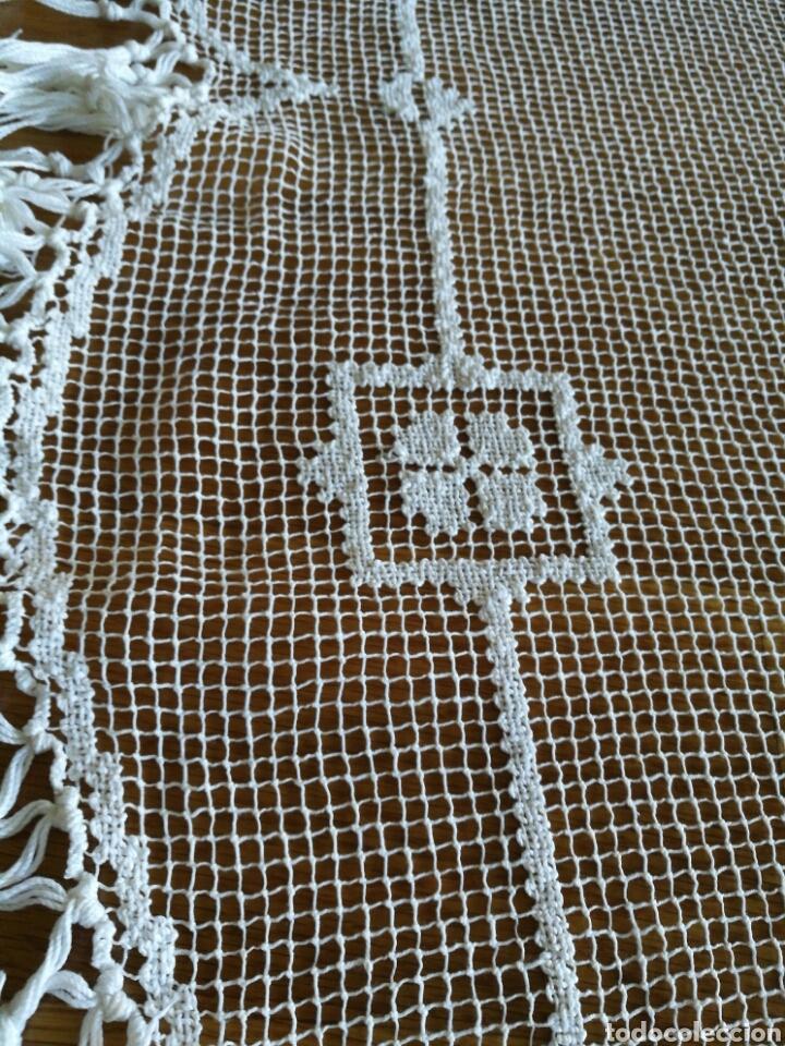 Antigüedades: Colcha de encaje de red - Foto 6 - 96489800