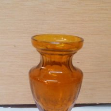 Antigüedades: JARRÓN DE CRISTAL CON BASE DE PLATA. Lote 96509595