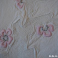 Antigüedades: MUY ANTIGUA SABANA CAMA DE 90-110. Lote 96523599