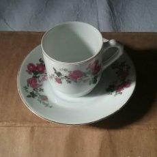 Antigüedades: DOCE TAZAS CON PLATO PARA CAFÉ. EN PORCELANA CHINA,SELLADO.NUEVO.EN SU CAJA ORIGINAL.AÑO 1980. Lote 96540894