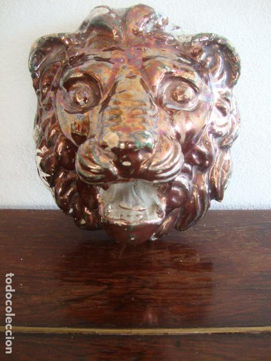 BOCA DE FUENTE CERAMICA DE TRIANA REFLEJO (Antigüedades - Porcelanas y Cerámicas - Triana)
