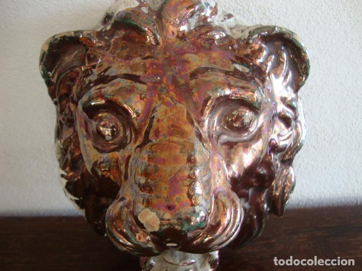 Antigüedades: Boca de fuente ceramica de Triana Reflejo - Foto 2 - 96552923