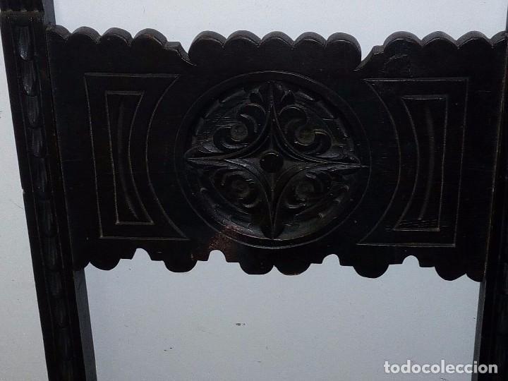Antigüedades: Pareja sillas castellanas - Foto 3 - 96559491
