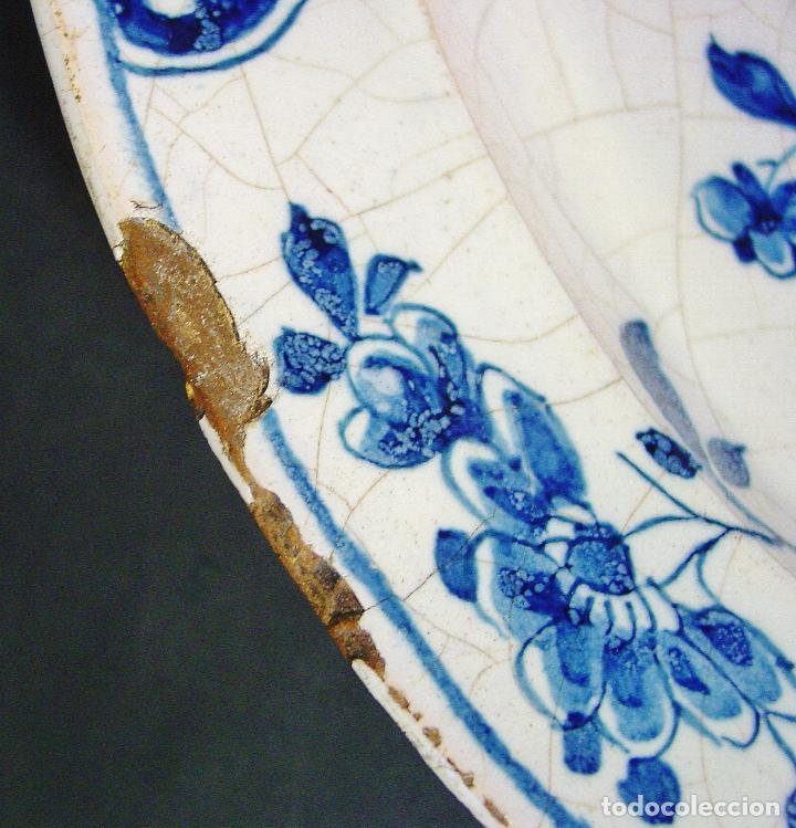 Antigüedades: GRAN PLATO EN CERÁMICA DE DELFT. SIGLO XVIII. BUEN ESTADO. 35 CM DIÁMETRO - Foto 6 - 96567111