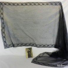Antigüedades: 5402 MANTILLA VELO ESTILO CHANTILLY AÑOS 1920. Lote 96580651