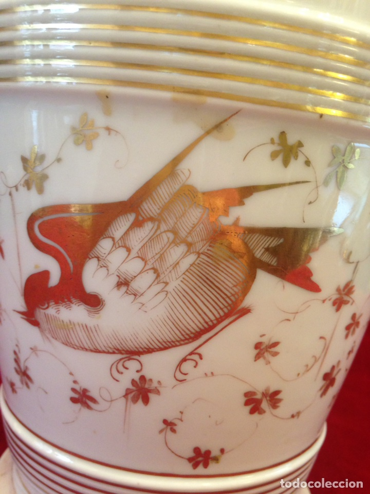 Antigüedades: Macetero de porcelana con base, siglo XIX - Foto 4 - 96584779