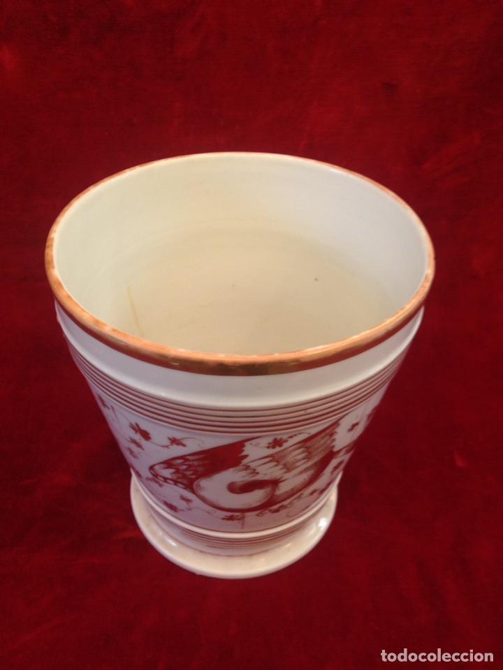 Antigüedades: Macetero de porcelana con base, siglo XIX - Foto 5 - 96584779