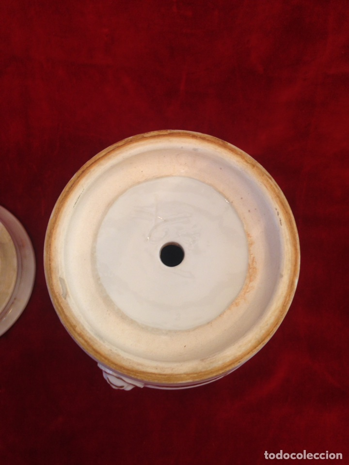 Antigüedades: Macetero de porcelana con base, siglo XIX - Foto 14 - 96584779