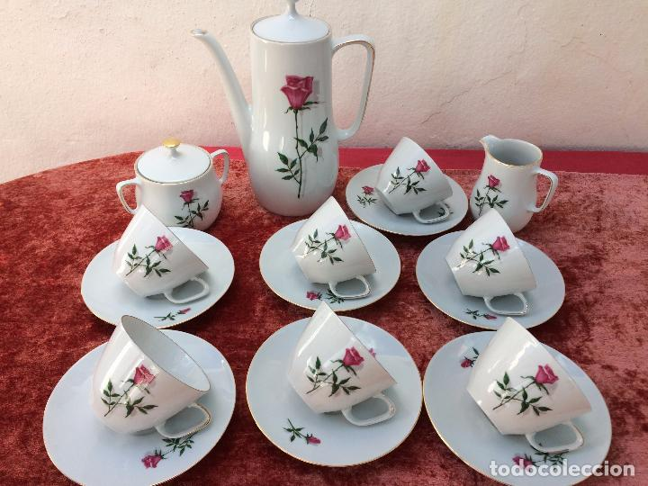 JUEGO ANTIGUO DE CAFE EN PORCELANA DE BAVARIA SELLADO BAREUTHER (Antigüedades - Porcelana y Cerámica - Alemana - Meissen)