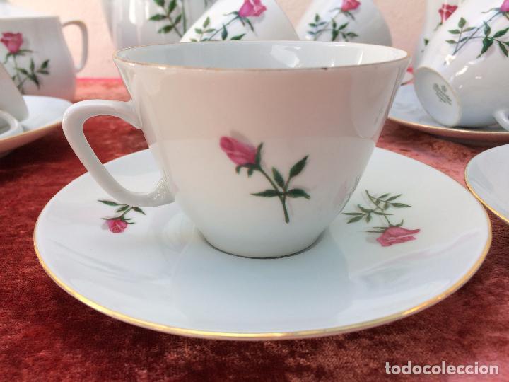 Antigüedades: JUEGO ANTIGUO DE CAFE EN PORCELANA DE BAVARIA SELLADO BAREUTHER - Foto 5 - 96592335