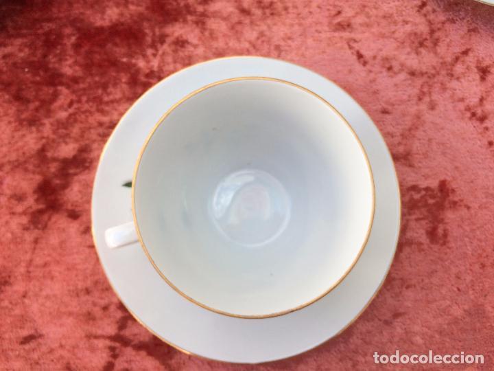 Antigüedades: JUEGO ANTIGUO DE CAFE EN PORCELANA DE BAVARIA SELLADO BAREUTHER - Foto 6 - 96592335