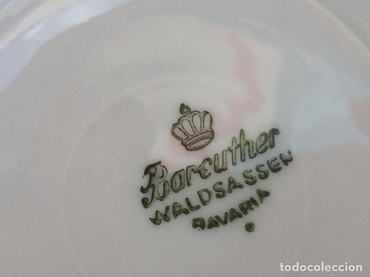 Antigüedades: JUEGO ANTIGUO DE CAFE EN PORCELANA DE BAVARIA SELLADO BAREUTHER - Foto 10 - 96592335