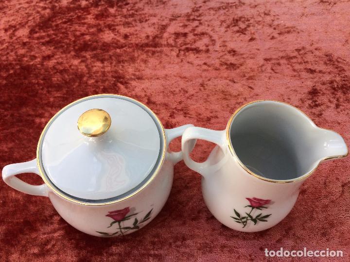 Antigüedades: JUEGO ANTIGUO DE CAFE EN PORCELANA DE BAVARIA SELLADO BAREUTHER - Foto 14 - 96592335