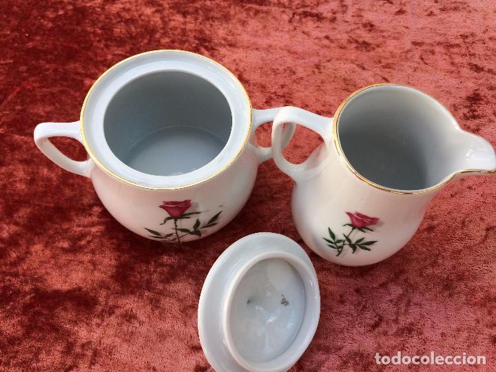 Antigüedades: JUEGO ANTIGUO DE CAFE EN PORCELANA DE BAVARIA SELLADO BAREUTHER - Foto 15 - 96592335