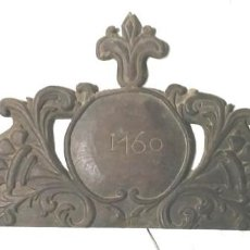 Antigüedades: REMATE COPETE ARMARIO DEL XVIII DE ROBLE, FECHADO AÑO 1760. MED. 115 X 49 CM. Lote 96611595