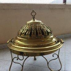 Antigüedades: ANTIGUO BRASERO DE LATÓN Y BRONCE. Lote 96613399