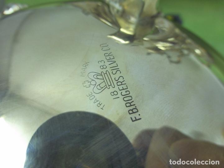 Antigüedades: ANTIGUO Y ELEGANTE JUEGO DE TÉ o CAFÉ ORIGINAL DE F. B. ROGERS SILVER CO. - TRADE MARK 1883 - Foto 7 - 96615135
