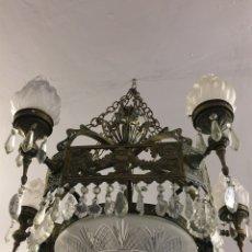 Antigüedades: LAMPARA DE BRONCE. Lote 50984276