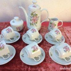 Antigüedades: JUEGO DE CAFÉ EN PORCELANA SELLADO. Lote 96621807