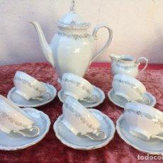 Antigüedades: JUEGO DE CAFÉ EN PORCELANA DE BAVARIA SELLADO WINTERLING. Lote 96622171
