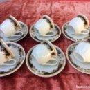 Antigüedades: JUEGO DE 6 TAZAS DE CAFÉ EN PORCELANA SELLADAS. Lote 96622487