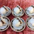 Antigüedades: JUEGO DE 6 TAZAS DE CAFÉ EN PORCELANA SELLADAS. Lote 96622595
