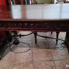 Antigüedades: MESA DE DESPACHO ROBLE S. XIX. Lote 96630771