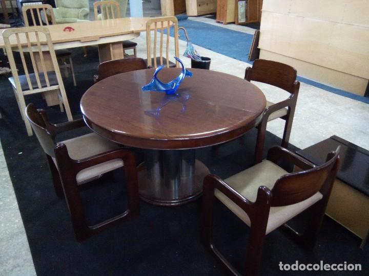 magnífica mesa de comedor redonda-extensibl + c - Kaufen Antike ...