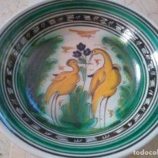 Antigüedades: PLATO HONDO DE PUENTE DEL ARZOBISPO. 25 CM DE DIÁMETRO.. Lote 96657387