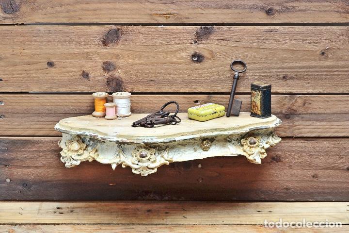 Repisa de madera y yeso balda decoracion orname comprar repisas antiguas en todocoleccion - Balda de madera ...