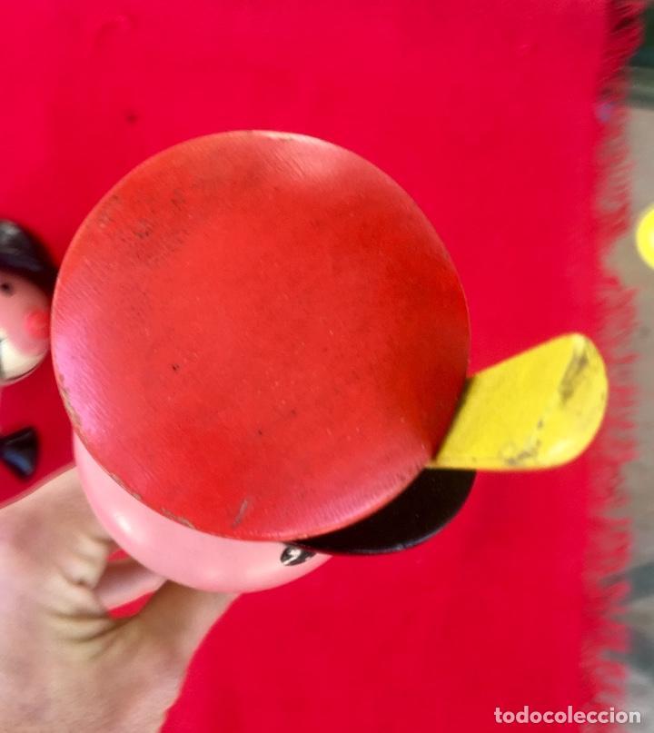 Antigüedades: Payaso y soldado artesanales 1950 calzadores pintados a mano circo colores vivo decoracion infantil - Foto 15 - 96676699