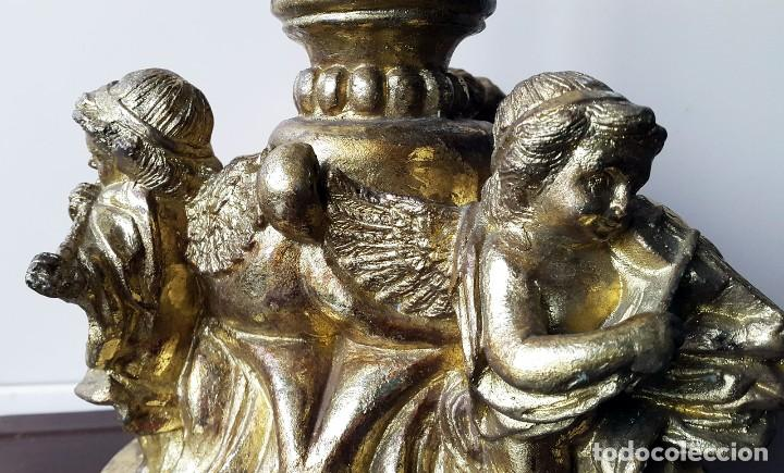 Antigüedades: PORTA VELAS ANGELES MUSICALES - Foto 2 - 96693843