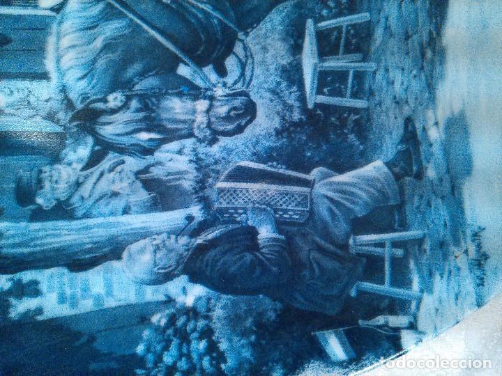 Antigüedades: PAREJA DE PLATOS EN PORCELANA DE DELFT. HOLANDA. FIRMADOS. SELLOS AL DORSO. - Foto 6 - 96721651