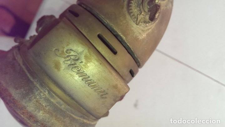 Antigüedades: antiguo faro carburo rienman bicicleta claisca aleman, coleccion jefe estacion tren - Foto 3 - 96742663