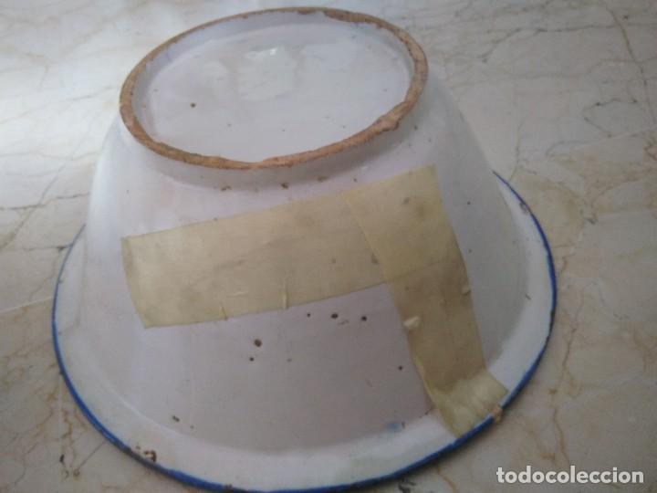 Antigüedades: ESPECTACULAR CUENCO O LEBRILLO DE CERÁMICA DE MANISES. 32.5 cm de diámetro. 13.5 cm de altura. - Foto 5 - 96744255