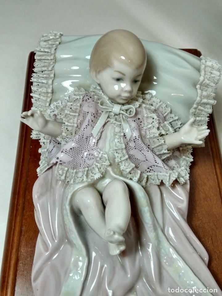 Antigüedades: NIÑA DE PAÑALES - LLADRO REF 01005617 - ESCULTOR FRANCISCO CATALA - Foto 11 - 96784587