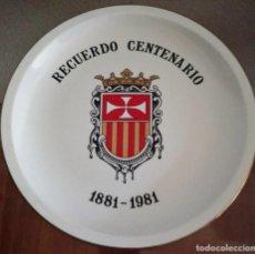 Antigüedades: PLATO CONMEMORATIVO CENTENARIO REAL Y MILITAR ORDEN MERCEDARIA (1881-1981) COLECCIONÍSMO - REF. 837 . Lote 96788091