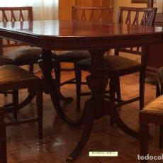Antiquitäten - Mesa de comedor y 8 sillas a juego - 96804207