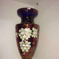 Antigüedades: JARRÓN VIDRIO AZUL. Lote 96810754