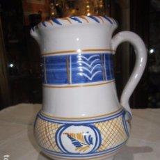 Antigüedades: JARRA DE CERÁMICA LA PILARICA. 19 CMS. ALTURA X 11 CMS. DIÁMETRO BOCA.. Lote 96830227