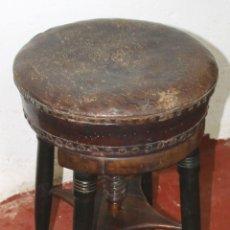 Antigüedades: BANQUETA DE PIANO. MADERA DE CAOBA. ESTILO MODERNISTA. ESPAÑA. CIRCA 1920.. Lote 57253101