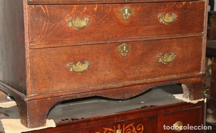 Antigüedades: CANTERANO EN MADERA DE ROBLE. ESTILO REINA ANA. INGLATERRA. CIRCA 1750. - Foto 6 - 57343570