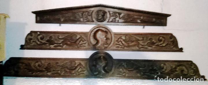 Antigüedades: Remates decorativos de muebles de madera antigua, ESTILO ESPAÑOL- 3- buen estado- - Foto 2 - 96860235